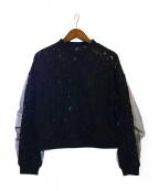 AULA(アウラ)の古着「LACE LAYERD BLOUSON」|ブラック