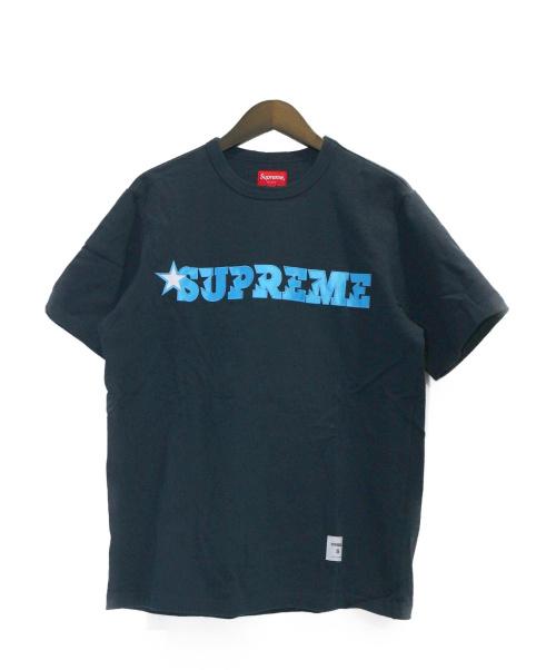 SUPREME(シュプリーム)SUPREME (シュプリーム) Star Logo S/S Top ブラック サイズ:Sの古着・服飾アイテム