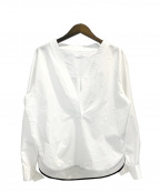 CINOH(チノ)の古着「Oリングカフブラウス」|ホワイト
