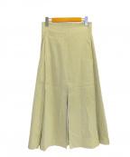 INSCRIRE(アンスクリア)の古着「スリットスカート」|グリーン