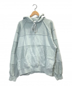 Name.(ネーム)の古着「INSIDE OUT HOODED SWEATER」 ブルー