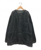 nestrobe confect(ネストローブ コンフェクト)の古着「コーデュロイノーカラージャケット」 グレー