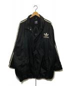 ()の古着「バックトレフォイユロゴコーチジャケット」 ブラック