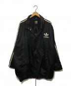 adidas(アディダス)の古着「バックトレフォイユロゴコーチジャケット」|ブラック