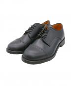 Locking shoes()の古着「ストレートチップシューズ」|ブラック