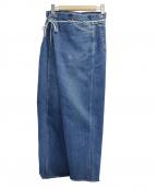 MAISON EUREKA(メゾン エウレカ)の古着「VINTAGE REWORK BIGGY PANTS」|ブルー