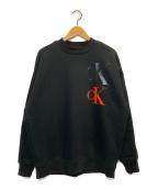 Calvin Klein Jeans(カルバンクラインジーンズ)の古着「ロゴスウェット」 ブラック