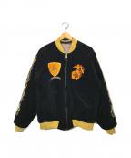 TAILOR東洋(テーラー東洋)の古着「別珍スカジャン」|ブラック×パープル
