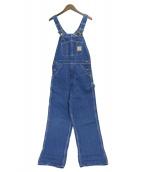 CarHartt(カーハート)の古着「デニムオールインワン」|ブルー