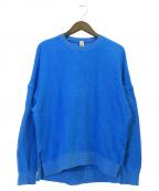 nagonstans(ナゴンスタンス)の古着「エルボーパッチ プルオーバー」|ブルー