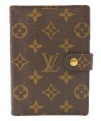 LOUIS VUITTON(ルイ ヴィトン)の古着「アジェンダPM 手帳カバー」|ブラウン