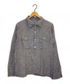 nestrobe confect(ネストローブ コンフェクト)の古着「綿麻POシャツ」 ブルー