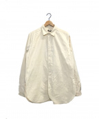 FRANK LEDER(フランクリーダー)の古着「BEDLINEN COTTON PLAIN SHIRTS」 アイボリー
