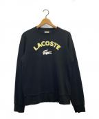 LACOSTE(ラコステ)の古着「クルーネックスウェット」|ブラック