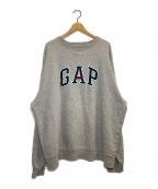 GAP(ギャップ)の古着「オールドロゴスウェット」|グレー
