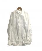 sulvam(サルバム)の古着「Broad stand collar shirt」|ホワイト