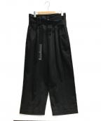 SHAREEF(シャリーフ)の古着「STRIPE WIDE PANTS」 ブラウン×ブラック