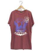 DIESEL(ディーゼル)の古着「Superior Print T-Shirts」|ボルドー