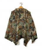 JUNYA WATANABE CdG(ジュンヤワタナベコムデギャルソン)の古着「迷彩ポンチョ」|グリーン