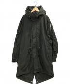 KAZUYUKI KUMAGAI ATTACHMENT(カズユキクマガイアタッチメント)の古着「ミリタリーサテンモッズコート」|ブラック