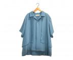 CULLNI(クルニ)の古着「ワイド比翼S/Sシャツ」 ブルー