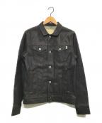 FACTOTUM(ファクトタム)の古着「リジットストレッチデニム 3RD Gジャン」|ブラック