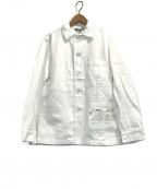 Fraizzoli(フライツォーリ)の古着「コットンジャケット」|ホワイト