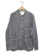 VISVIM(ビズビム)の古着「UNWASHED 101 Trucker Jacket」 インディゴ