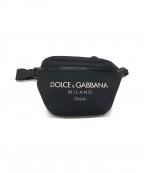 DOLCE & GABBANA(ドルチェ&ガッバーナ)の古着「ウエストロゴポーチ」|ブラック