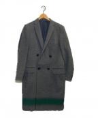 KOLOR(カラー)の古着「ウールチェスターコート」|グレー