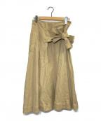 STUDIO NICHOLSON(スタジオニコルソン)の古着「BENITO ウエストリボンスカート」|ベージュ