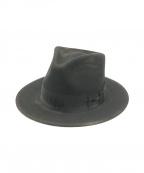 STETSON(ステットソン)の古着「ヴィンテージ加工ウールフエルト中折れ帽」|ブラック