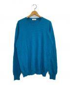 GRAN SASSO(グランサッソ)の古着「FRESHCOTTONニット」|ブルー