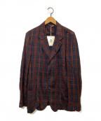 MANDO(マンドー)の古着「チェックシャツジャケット」|ブラウン