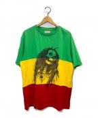 Palm Angels(パームエンジェルス)の古着「スカルプリントラスタカラーTシャツ」|ラスタカラー