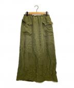 ticca(ティッカ)の古着「ギャザー3wayスカート」 グリーン