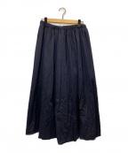 journal standard luxe(ジャーナルスタンダード ラックス)の古着「CSIツイル イージーギャザースカート」|ネイビー