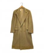 GIORGIO ARMANI(ジョルジョアルマーニ)の古着「ウールダブルブレストコート」|ベージュ