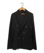 TOMORROW LAND tricot(トゥモローランドトリコ)の古着「ウールダブルブレストニットジャケット」|ブラック