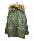 AVIREX(アヴィレックス)の古着「N-3Bフライトジャケット コマーシャルモデル」|グリーン