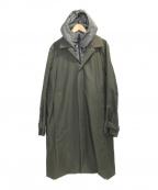DESCENTE(デサント)の古着「ステンカラーフードスタイリッシュコート」 グリーン