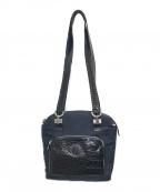 GIANNI VERSACE(ジャンニヴェルサーチ)の古着「メデューサコンビハンドバッグ」|ネイビー