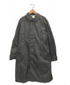 ()の古着「ドッドナイロンコート」 ブラック