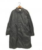 COMME des GARCONS COMME des GARCONS()の古着「ドッドナイロンコート」 ブラック