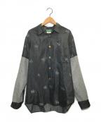 COMME des GARCONS HommePlus(コムデギャルソン オムプリュス)の古着「切替デザインシャツ」|ブラック