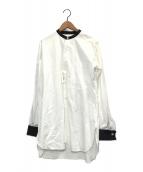 ()の古着「スタンドカラーシャツ」 ホワイト