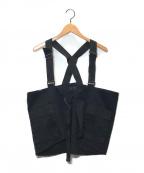 s'yte(サイト)の古着「20/Cotton Twill Bag Vest」|ブラック