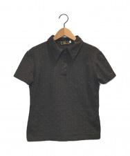 FENDI (フェンディ) ズッカ柄ポロシャツ ブラウン サイズ:42