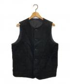 nestrobe confect(ネストローブ コンフェクト)の古着「ウールモッサクルーネックベスト」 ブラック