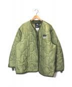 ()の古着「キルティングジャケット」|カーキ